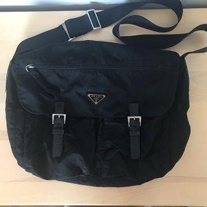 Authentic prada messenger bag